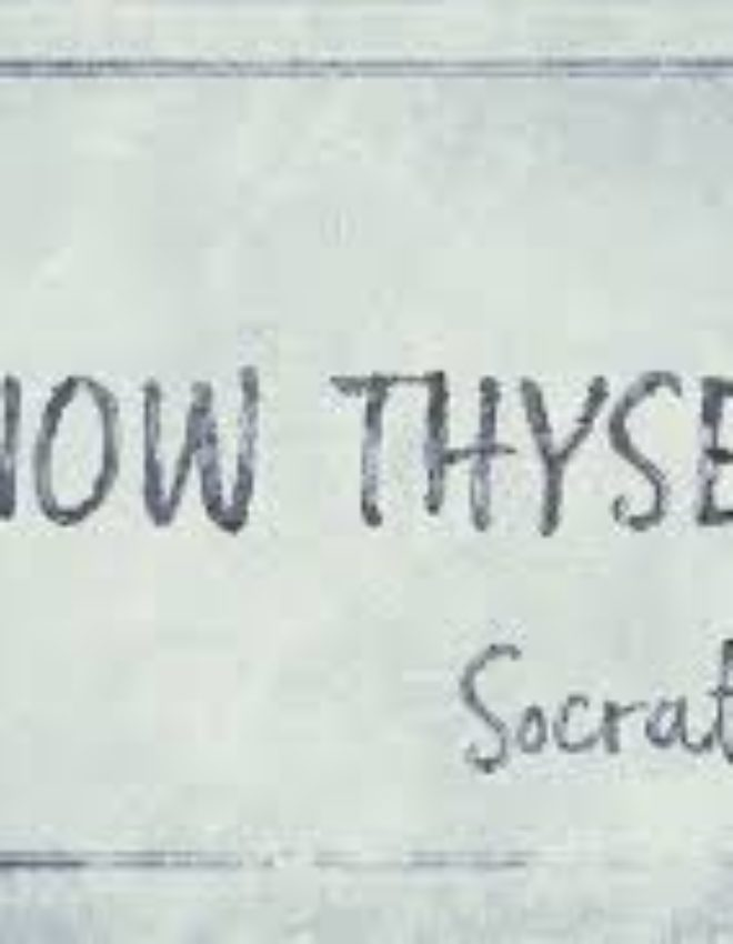 "The Ancient Greek aphorism ""Know Thyself"""